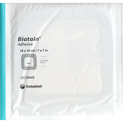 Biatain / Биатен - губчатая адгезивная повязка, 18х18 см