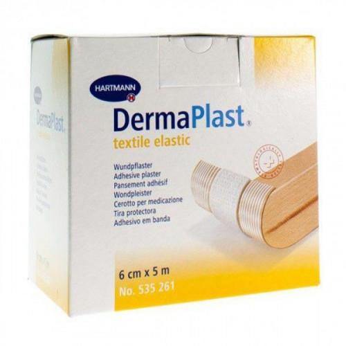 DermaPlastTextile Elastic / ДермаПласт Текстайл Эластик - пластырь гипоаллергенный, из эластичного материала, телесный, 6 см х 5 м