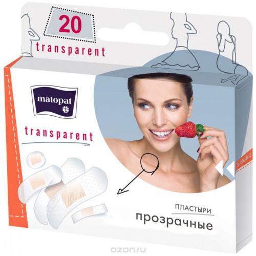 Matopat Transparent / Матопат Транспарент - пластырь, 5 размеров, 20 шт.