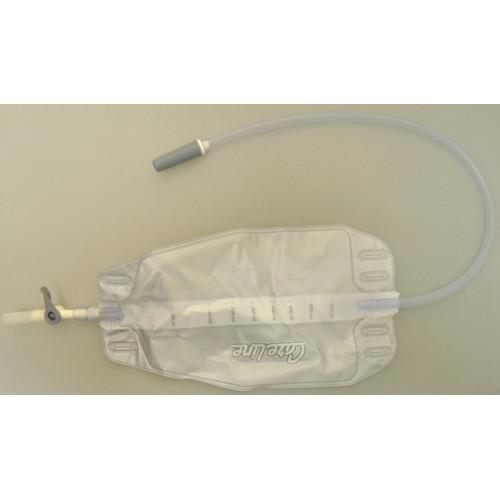 ConvaTec Careline / Конватек Карелайн - мочеприемник ножной (дневной), 500 мл (набор: 10 мочеприемника., 2 ленты)