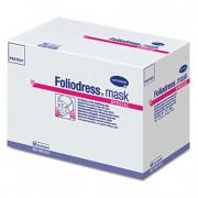 Foliodress mask protect perfect / Фолиодрес мэск протект пёрфект - маска на лицо из нетканого материала для кожи с нормальной чувствительностью, зеленая, 50 шт