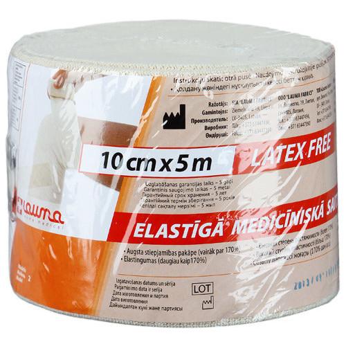 Lauma / Лаума- бинт эластичный, длиннорастяжимый, 10x500 см