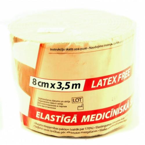 Lauma / Лаума- бинт эластичный, длиннорастяжимый, 8x350 см