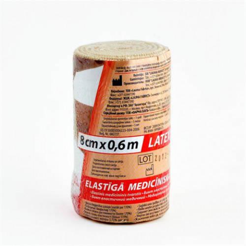 Lauma / Лаума- бинт эластичный, длиннорастяжимый, 8x60 см