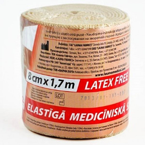 Lauma / Лаума– бинт эластичный, длиннорастяжимый, 8x170 см