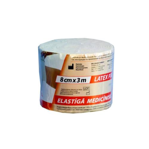 Lauma / Лаума- бинт эластичный, длиннорастяжимый, 8x300 см