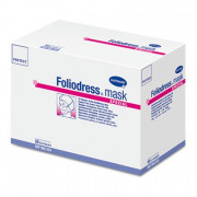 Foliodress mask protect special / Фолиодрес мэск специал - маска на лицо из нетканого материала для лиц, носящих очки и бороду, 50 шт, голубая