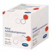 Peha Schlitzkompressen steril / Пеха Шлицкомпрессен стерил - стерильная нетканая салфетка с Y-образным вырезом, 7,5 см x 7,5 см, 17 нитей, 25 x 2 шт