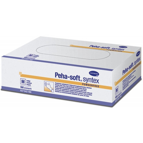 Peha-Soft Syntex / Пеха-Софт Синтекс - виниловые перчатки без пудры, 100 шт, M