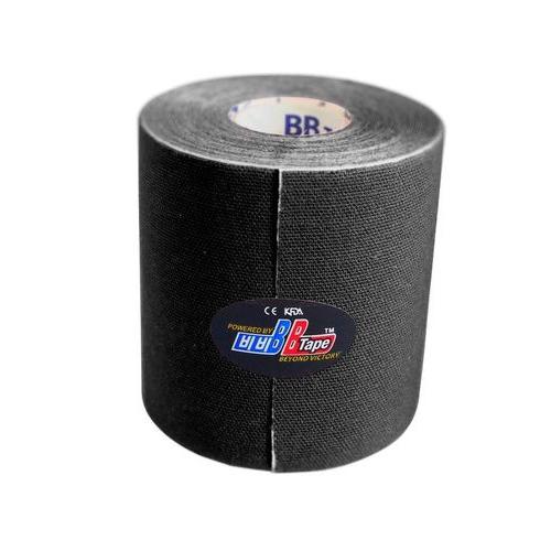 BBTape Max / БиБи Тейп Макс - кинезио тейп с усиленным клеем, черный, 7,5 см x 5 м