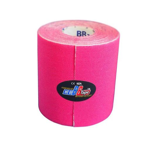 BBTape Max / БиБи Тейп Макс - кинезио тейп с усиленным клеем, красный, 7,5 см x 5 м