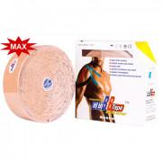 BBTape Max / БиБи Тейп Макс - кинезио тейп с усиленным клеем, бежевый, 5 см x 32 м