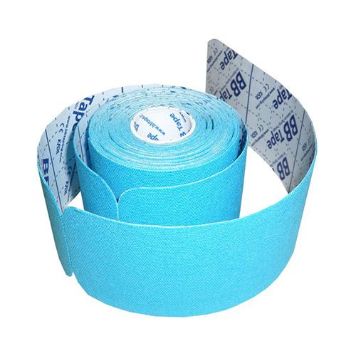 BBTape Pre-Cut - кинезио тейп, голубой, 5 см x 5 м, полоски по 25 см