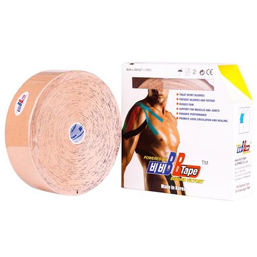 BBTape / БиБи Тейп - кинезио тейп, бежевый, 5 см x 32 м