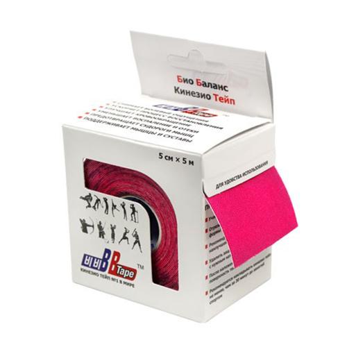 BBTape / БиБи Тейп - кинезио тейп, розовый, 5 см x 5 м