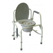 Amrus AMCB6807 / Амрос - кресло-туалет, со спинкой, с опускающимися подлокотниками