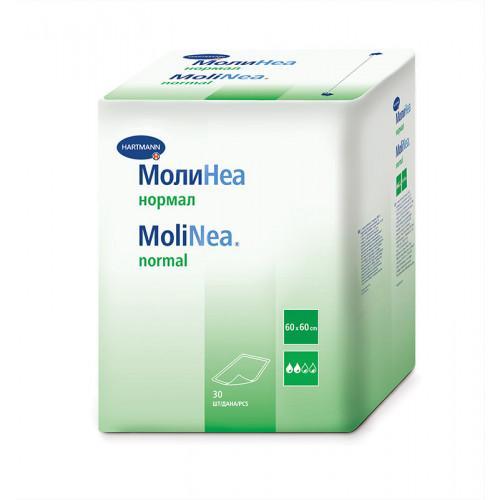 MoliNea Normal / МолиНеа Нормал - одноразовые впитывающие пеленки, 60x60 см, 80 г/м2, 30 шт.