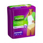 Depend / Депенд - женское впитывающее белье, размер L/XL, 9 шт.