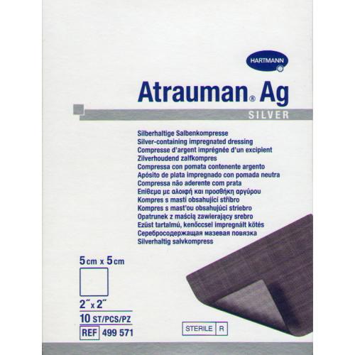 Атрауман Аг / Atrauman Ag - мазевая повязка с серебром, 5х5 см