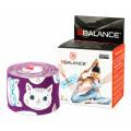 BBTape / БиБи Тейп - кинезио тейп, котята, фиолетовый, 5 см x 5 м