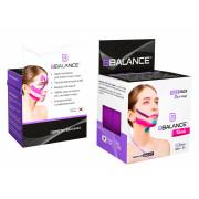 BBTape Face Pack / БиБи Тейп Фейс Пак - кинезио тейп для лица, шелк, фиолетовый, 2,5 см x 5 м, 2 шт.