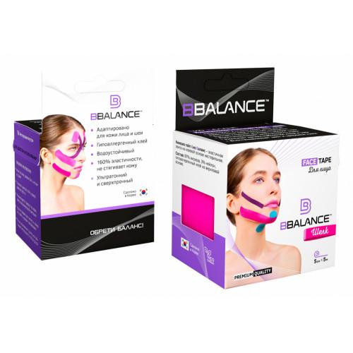 BBTape Face Tape / БиБи Тейп Фейс Тейп - кинезио тейп для лица, шелк, розовый, 5 см x 5 м
