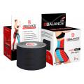 BBTape Lymph Tape / БиБи Тейп Лимфа Тейп - кинезио тейп для тела, перфорированный, черный, 5 см x 5 м