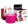 BBTape Lymph Tape / БиБи Тейп Лимфа Тейп - кинезио тейп для тела, перфорированный, розовый, 5 см x 5 м