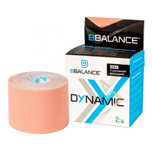 BBTape Dynamic Max / БиБи Тейп Динамик Макс - кинезио тейп, нейлоновый, бежевый, 5 см x 5 м