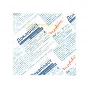 Докапласт - лейкопластырь с мирамистином, 3,8x3,8 см