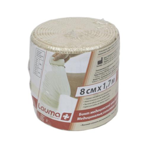 Lauma / Лаума- бинт эластичный, длиннорастяжимый, 8x170 см