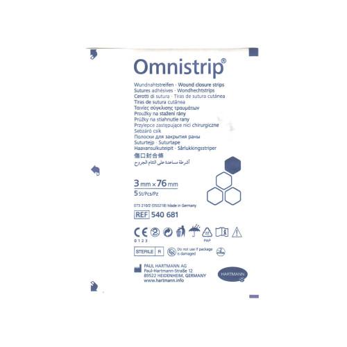 Omnistrip / Омнистрип - стерильные полоски на операционные швы, 3x76 мм,  5 шт.