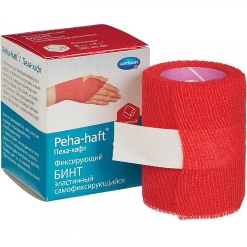 Peha-Haft / Пеха-Хафт - бинт самофиксирующийся, 6 см x 20 м, красный