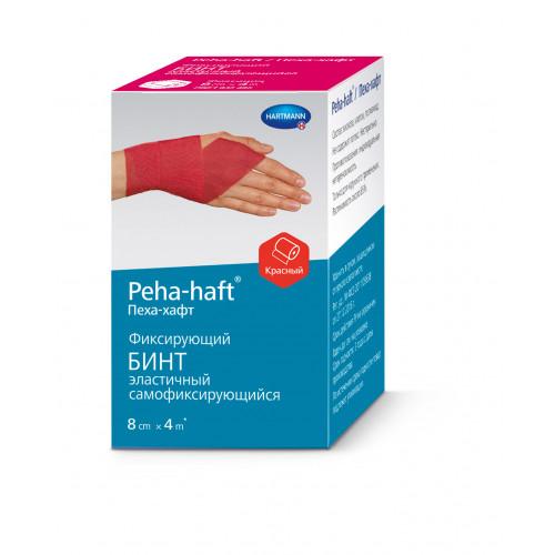 Peha-Haft / Пеха-Хафт - бинт самофиксирующийся, 8 см x 4 м, красный