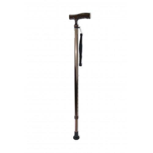 Amrus AMCТ25 / Амрос - трость телескопическая, с ортопедической пластиковой ручкой, бронза