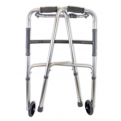 Amrus AMW1B73 / Амрос - ходунки шагающие, с одним замком, на двух опорах, с двумя колесами (диаметр 125 мм)