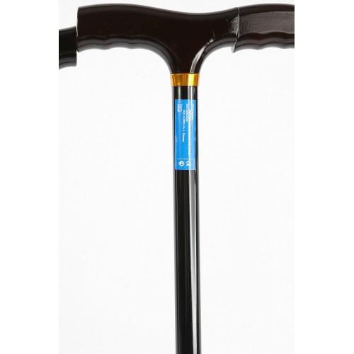 Valentine International 10090BL / Валентайн Интернэшнл - трость телескопическая, с деревянной ручкой, 76-99 см, черная