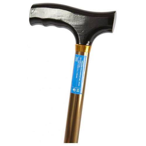Valentine International 10090BZ / Валентайн Интернэшнл - трость телескопическая, с деревянной ручкой, 76-99 см, бронза