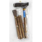 Valentine International 10121BZ / Валентайн Интернэшнл - трость телескопическая, складная, с деревянной ручкой, 82-92 см, бронза