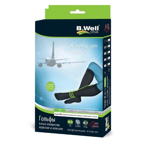 B.Well rehab JW-112 / Би Велл - компрессионные гольфы (1 класс, 19-22 мм рт.ст.), №2, черный цвет