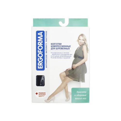 Ergoforma / Эргоформа - компрессионные колготки для беременных (1 класс), размер №6, черные