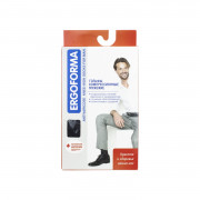 Ergoforma / Эргоформа - компрессионные гольфы мужские (2 класс, 23-32 мм. рт. ст.), №3, чёрные, открытый носок