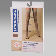 Ergoforma / Эргоформа - компрессионные чулки (1 класс, 18-22 мм. рт. ст.), №3, телесные