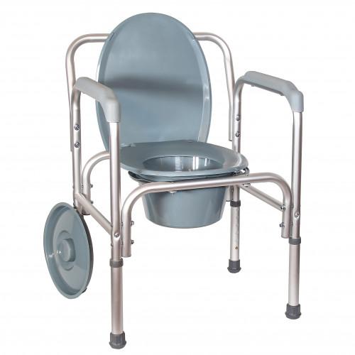 Amrus AMCB6804 / Амрос - кресло-туалет, со спинкой, облегченное