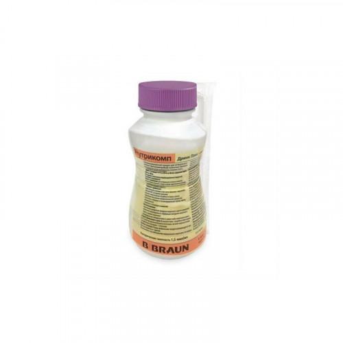 Нутрикомп Дринк Плюс, клубничный, в пластиковой бутылке -  жидкая смесь для энтерального питания, 200 мл
