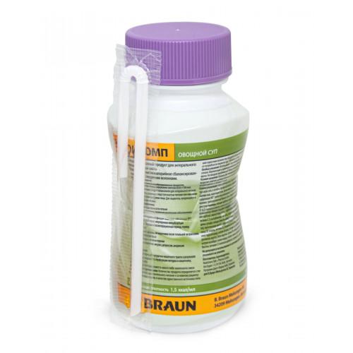 Нутрикомп, суп овощной, в пластиковой бутылке - жидкая смесь для энтерального питания, 200 мл