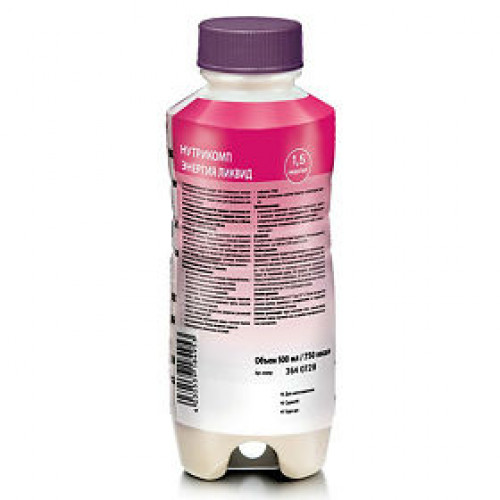 Нутрикомп Энергия Ликвид, в пластиковой бутылке - жидкая смесь для энтерального питания, 500 мл