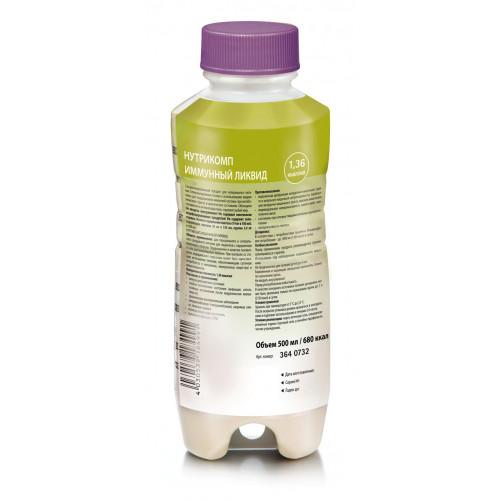 Нутрикомп Иммунный Ликвид - жидкая смесь для энтерального питания, 500 мл