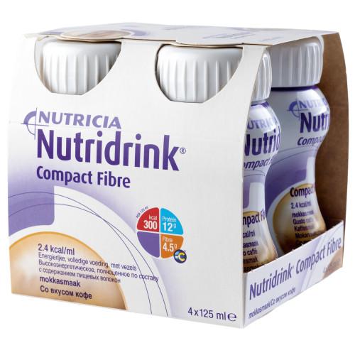 Nutridrink Compact / Нутридринк Компакт, с пищевыми волокнами - жидкая смесь для лечебного питания, 125 мл x 4 шт.