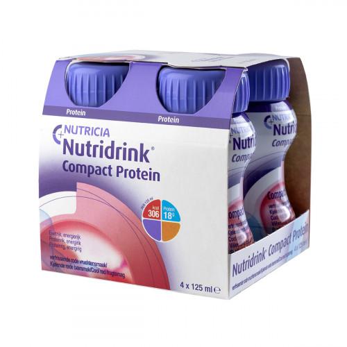 Nutridrink Compact Protein / Нутридринк Компакт Протеин, охлаждающий фруктово-ягодный вкус - жидкая смесь для лечебного питания, 125 мл x 4 шт.